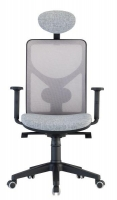 Y-Not highback with headrest white mesh front