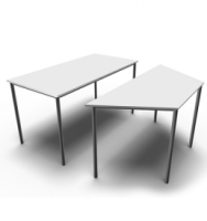 training-table-rectangular-trapezoid-modern
