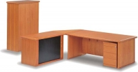 forum-desk-with-mobile-pedestal-and-credenza