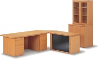 m1000-double-pedestal-desk-with-credenza-and-wall-unit